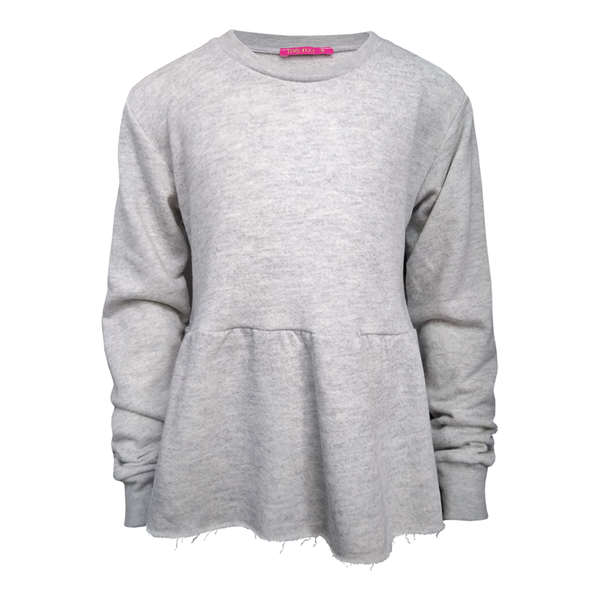 Peplum Sweatshirt - Heather Grey