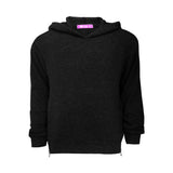 Side Zip Hoody- Black