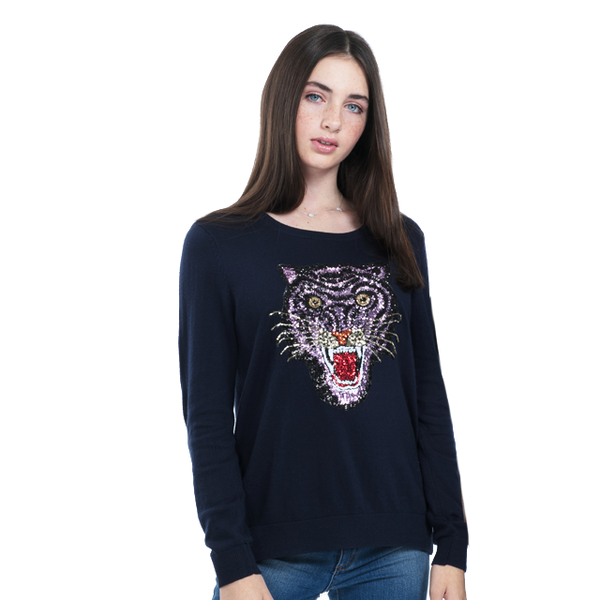 Sequin Lion Sweater
