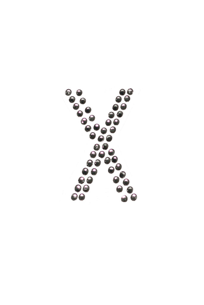 Clear Crystal Block Letter - X