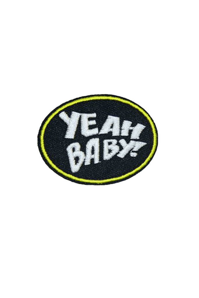 Yeah Baby Iron On Patch_Tag From me.n.u