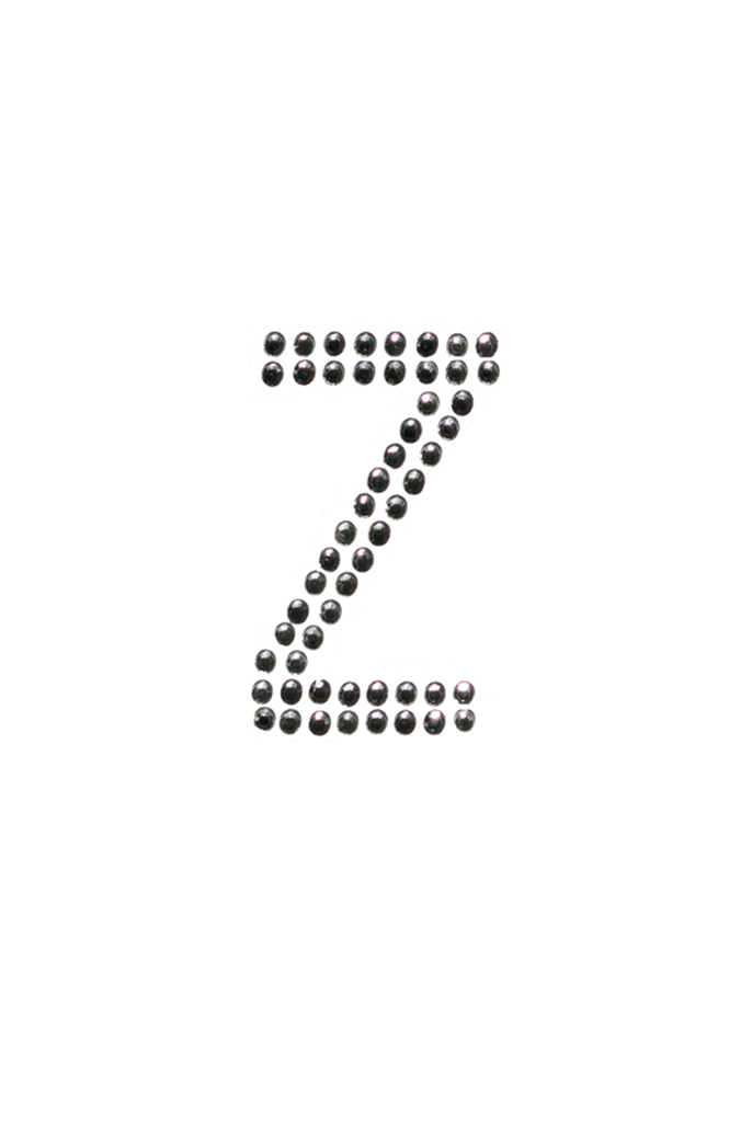 Clear Crystal Block Letter - Z