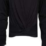Long Sleeve Twist Front Tee - Black