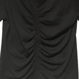Cinched Front Tee - Black