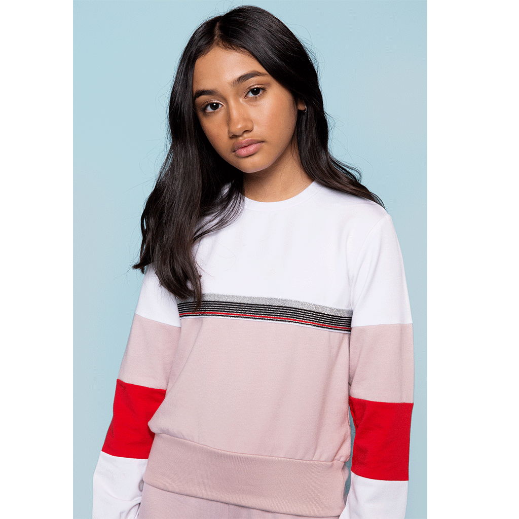 Athletic Colorblock Sweatshirt