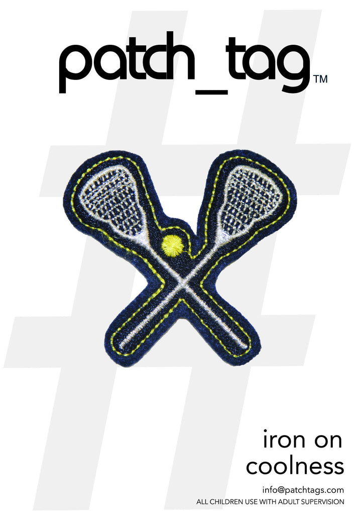 Lacrosse Stick Iron On patch_tag From me.n.u
