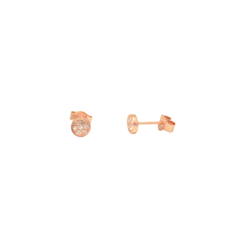 Disc Earrings- Rose Gold
