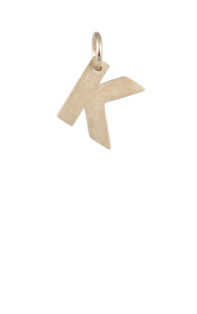 Teen Gift Ideas, Gold Block Letter - K