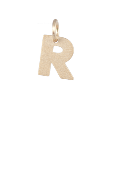 Girls Gift Ideas, Gold Block Letter R Charm