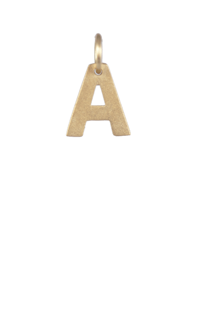 Tween Gift Ideas, Gold Block Letter A Charm