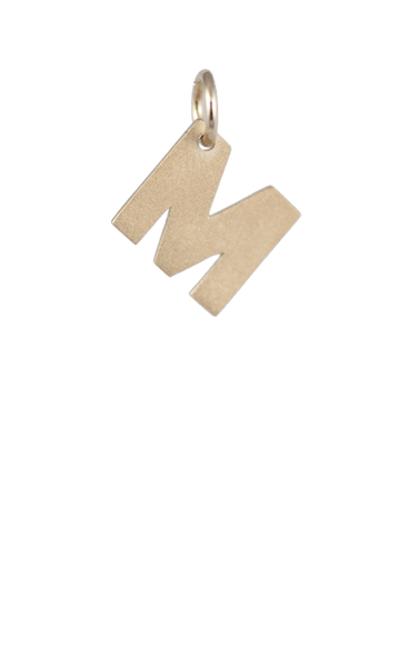 Girls Gift Ideas, Gold Blcok Letter M Charm