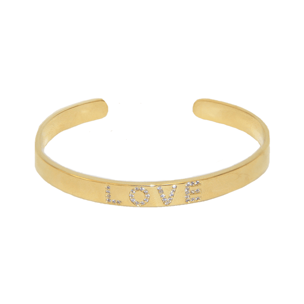 me.n.u Mini Love Cuff - Gold