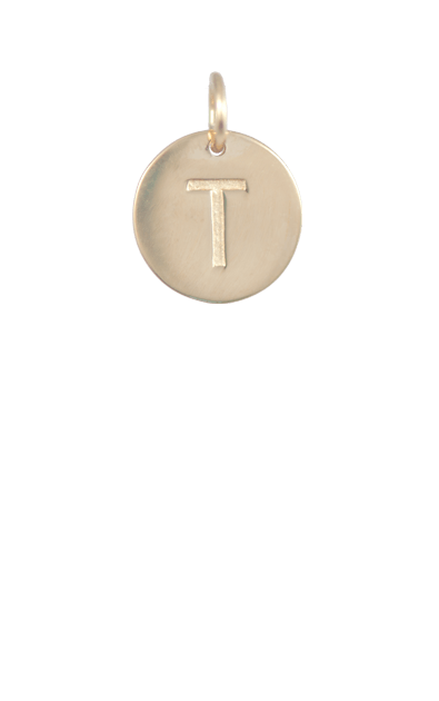 Best Tween Gift Ideas, Gold Disc Letter T Charm