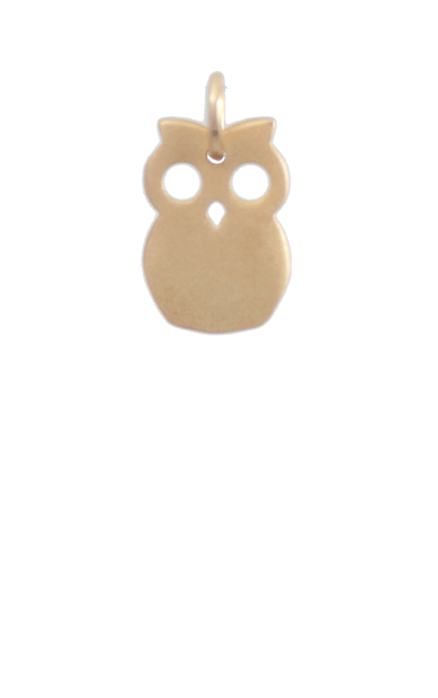 Owl Gold Charm, GIft Ideas for Tweens