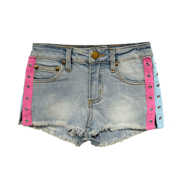 Grommet Denim Short