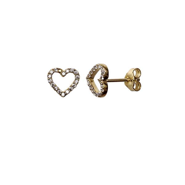 Open Heart Earrings - Gold