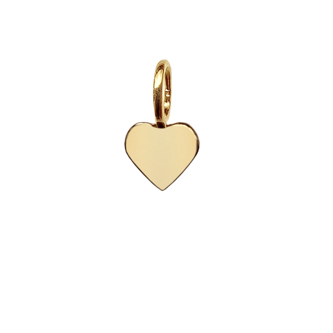 Mini Heart Charm - Gold
