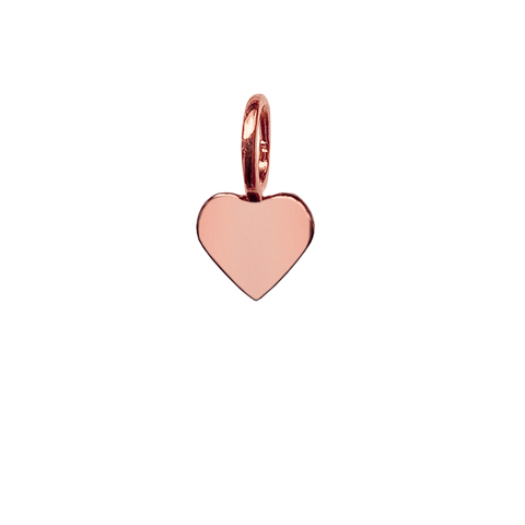 Mini Heart Charm - Rose Gold