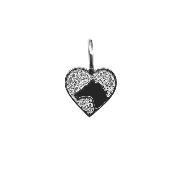 Crystal Heart With Horse Charm