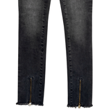 Zip Bottom Jean - Black