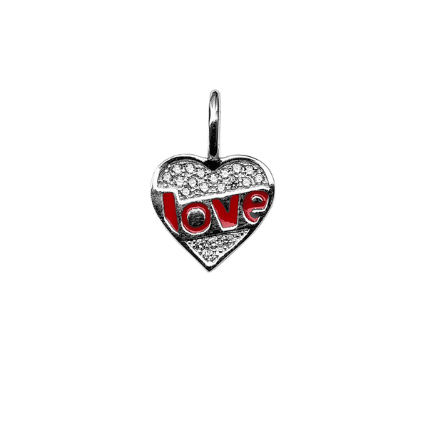 Crystal Heart With Love Charm