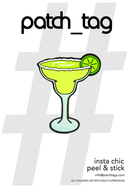 Margarita Glass Patch_Tag Sticker From me.n.u