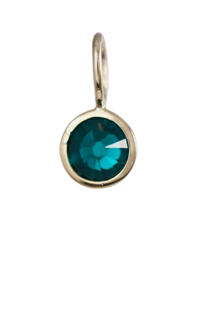 May Birthstone Gold Charm