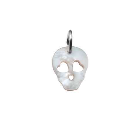 Mother Of Pearl Skull Charm