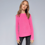 Moving Rib Sweater - Pink