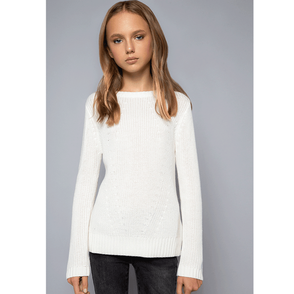 Moving Rib Sweater - Ivory