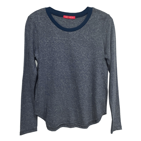 Long Sleeve Ringer Tee - Navy