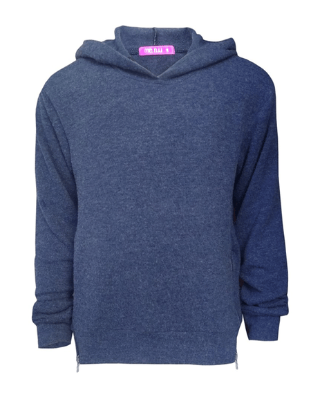Side Zip Hoody- Navy