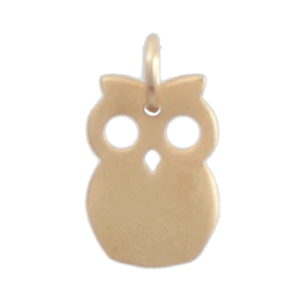 Gold Charm - Owl