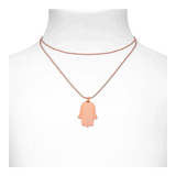 Hamsa Necklace Rose Gold