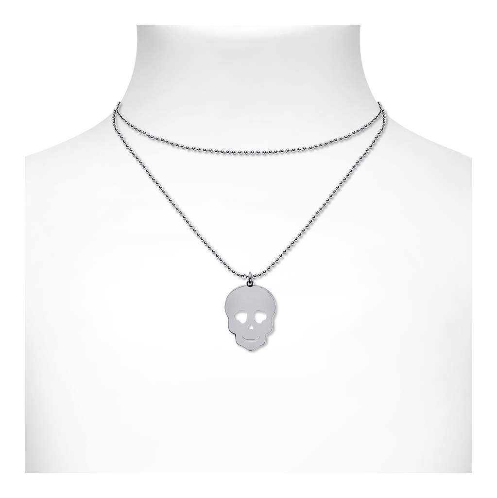 Skull Necklace - SIlver