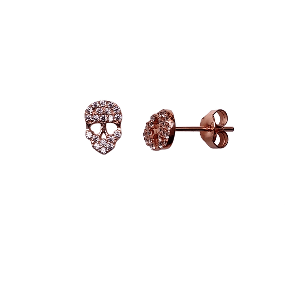 Skull Earrings - Rose Gold