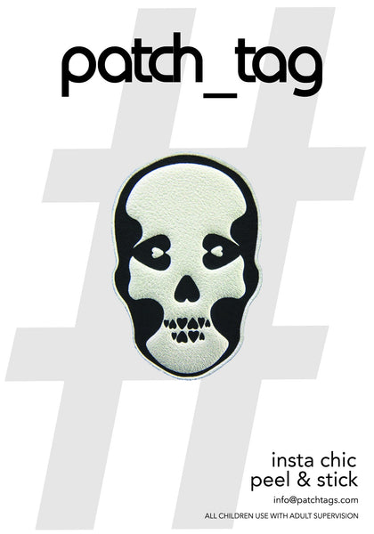 Skull Patch_Tag Sticker From me.n.u