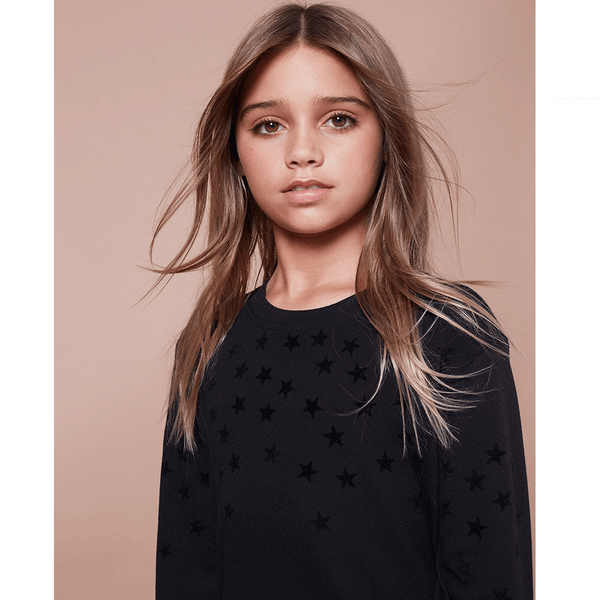 Flocked Star Sweatshirt