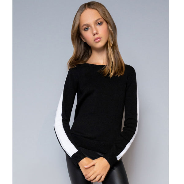 Colorblock Sweater - Black