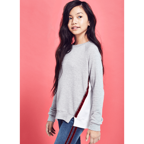 Velvet Trim Sweatshirt