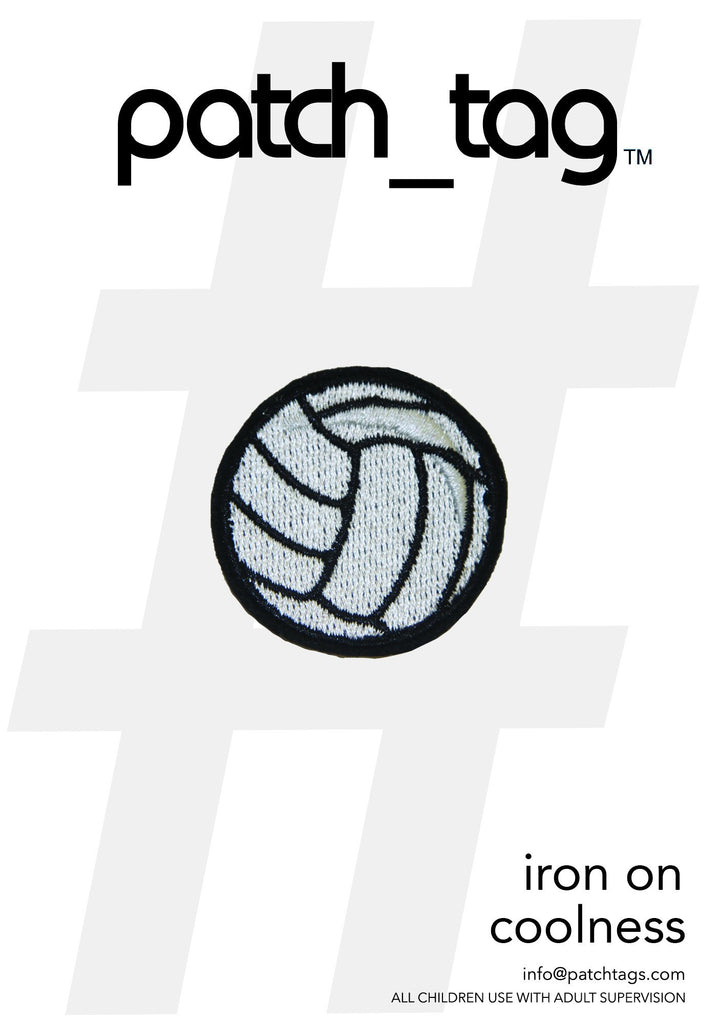 Volley Ball Iron On patch_tag From me.n.u
