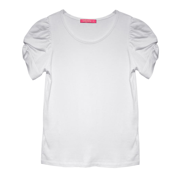 Twist Sleeve Tee - White