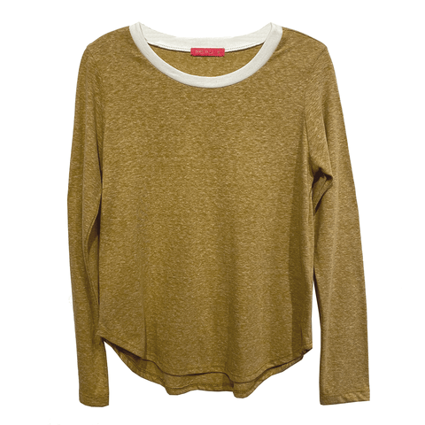 Long Sleeve Ringer Tee - Mustard