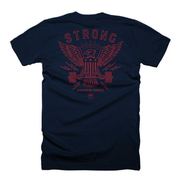 American Strong - Eagle - Navy Tee