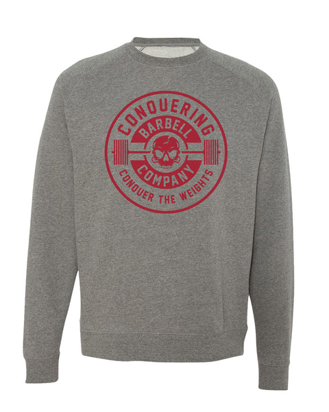 CB Iconic Badge Gunmetal Fleece