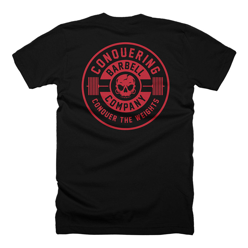 CB Iconic Badge - on Black Tee