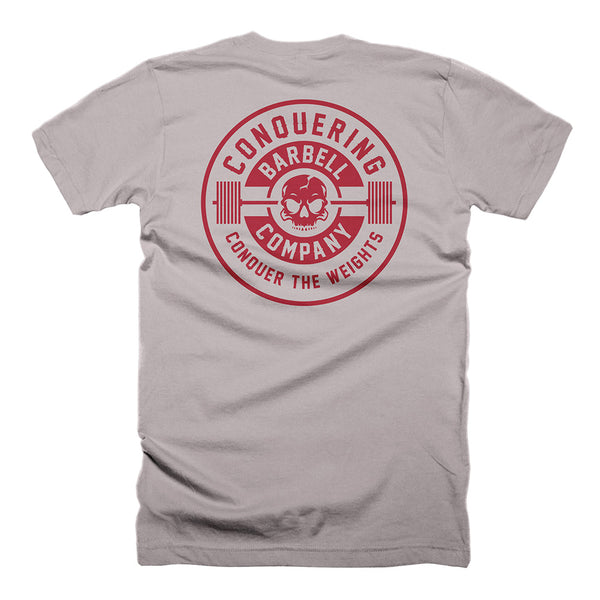 CB Iconic Badge - on Light Grey Tee