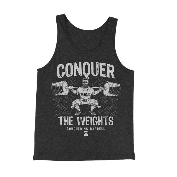 Conquer the Weights - PR or ER Triblend Tank Top