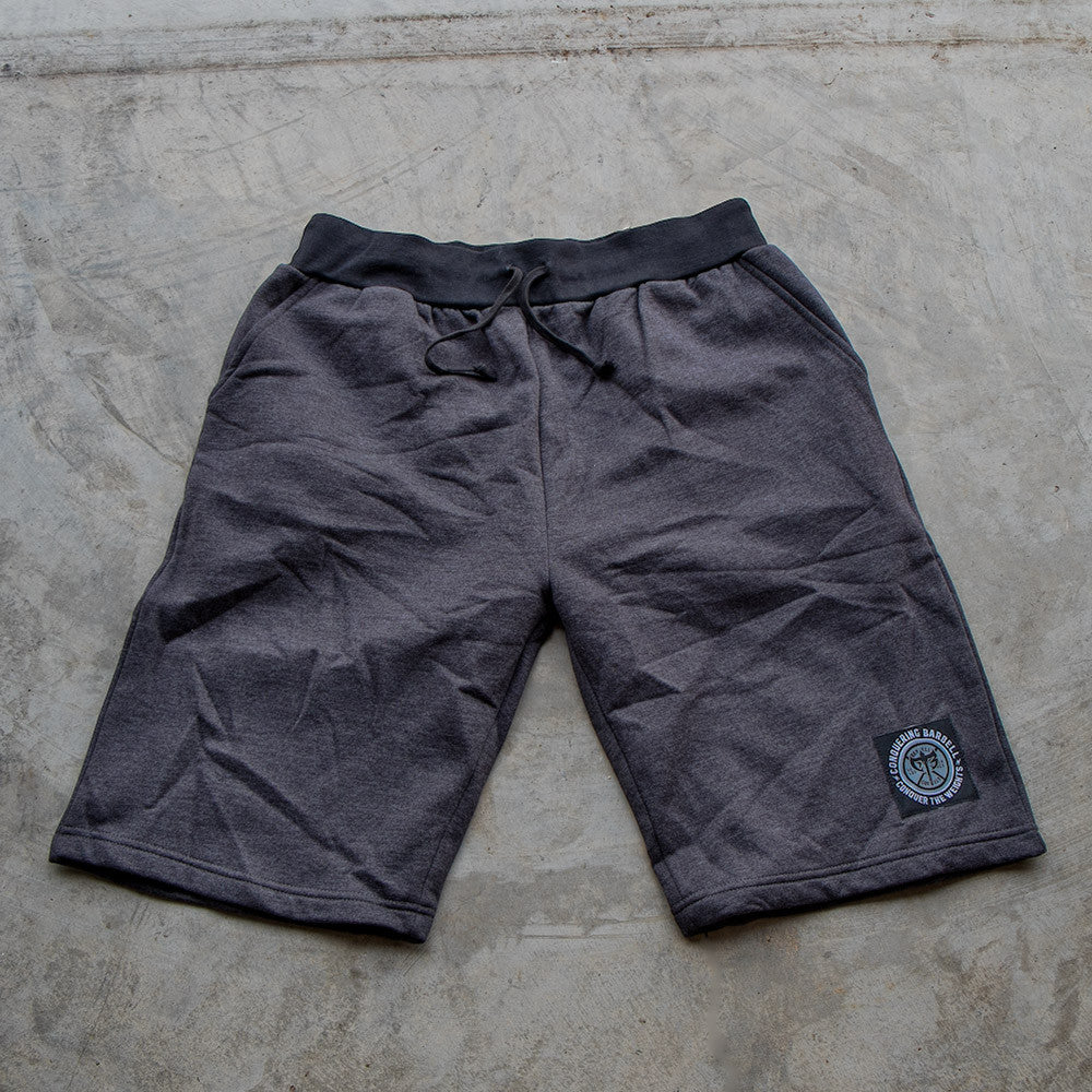 Conquering Barbell Sweat Shorts - Dark Grey