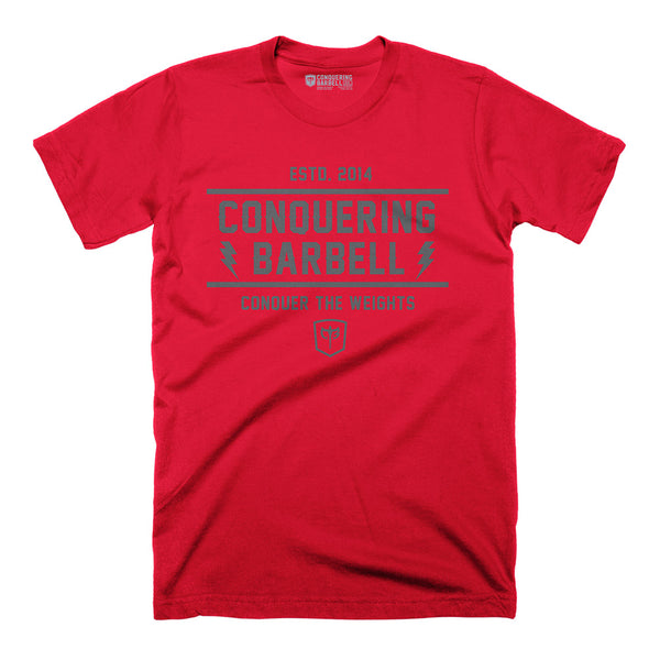 CB Iconic Standard - on Red Tee